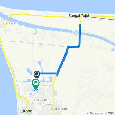 Jalan Curtin 38 to Lorong Desa Senadin 2C-1D 4427