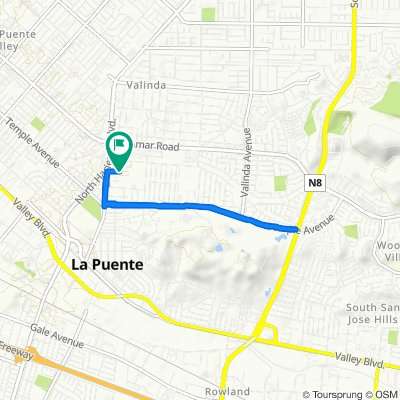 Hudson Avenue 15667, La Puente to Hudson Avenue 15667, La Puente