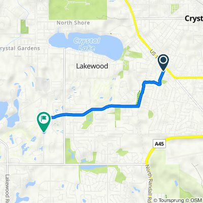 455 Coventry Ln, Crystal Lake to 8009 Redtail Dr, Lakewood