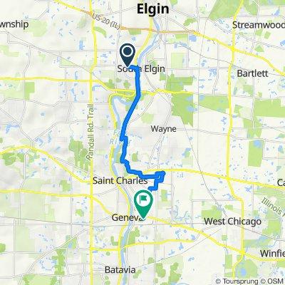 West Spring Street 665, South Elgin to Simpson Street 9, Geneva