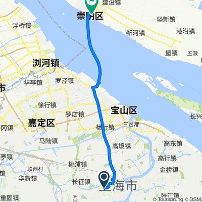 De 万航渡路1856号, 上海市 à 八一路170号, 上海市