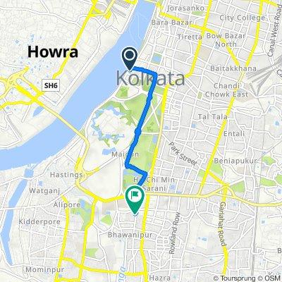 Strand Road, Kolkata to Beninandan Street, Kolkata