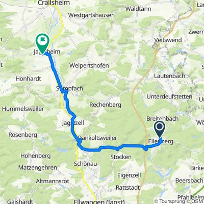 Gässle 34, Ellenberg nach Greutweg 30, Crailsheim