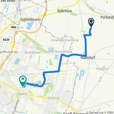 Route nach Josef-Frank-Gasse 3/8/22, Wien
