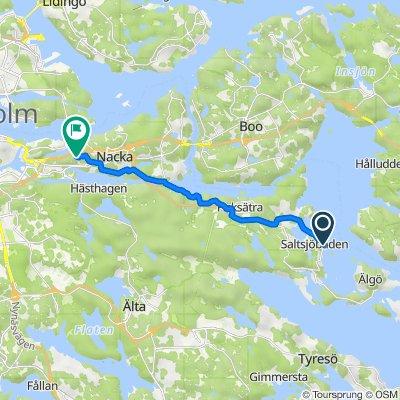Hotellvägen, Saltsjöbaden to Tallidsvägen 4F, Nacka