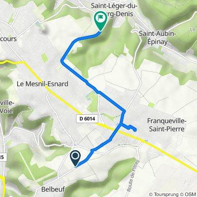 De 24–26 Route de Franqueville-Saint-Pierre, Belbeuf à Route de Darnétal, Bonsecours