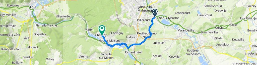 De 1bis Rue Lucien Galtier, Laneuveville-devant-Nancy à 12 Rue de Geleau, Chaligny