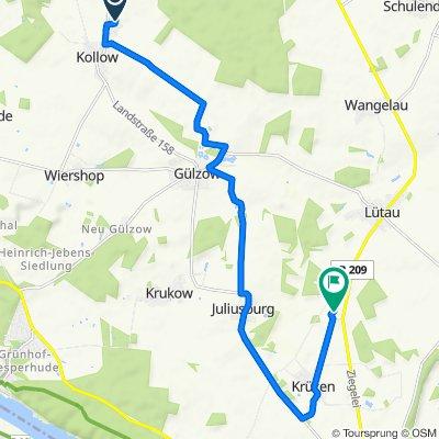 Route von Hinter den Teichen 9, Kollow