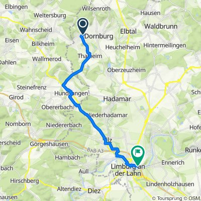Hauptstraße 31, Dornburg nach Obere Seilerbahn 8, Limburg