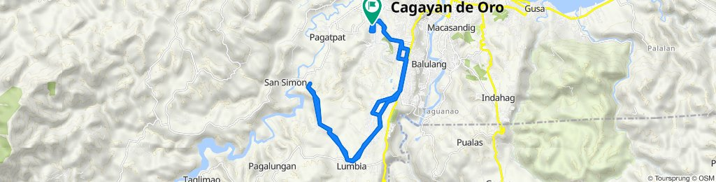 Bangkal Street, Cagayan de Oro City to Bangkal Street, Cagayan de Oro City