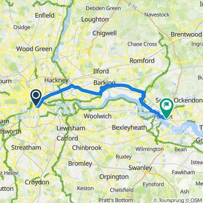 Quietway 22, London to London Road, Purfleet