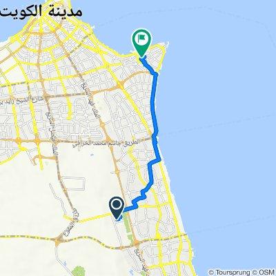 10 Street, Kuwait City to Sable Salmiya