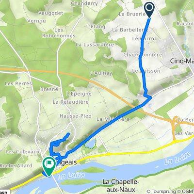 De 95–177 Route de la Bruyère, Cinq-Mars-la-Pile à D952, Langeais