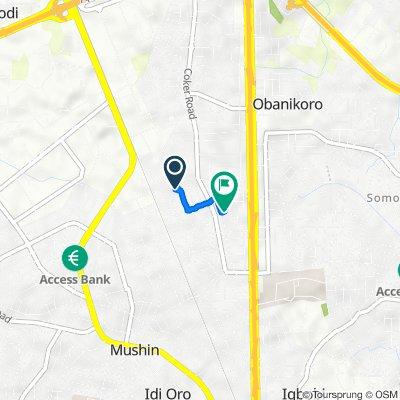 Ibiteye Street 11, Lagos to Owodunni Street 6, Lagos