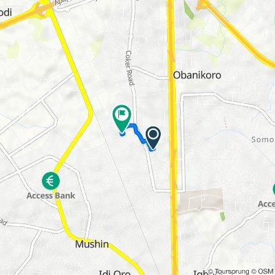 Owodunni Street 6, Lagos to Adeshiyan Street 17, Lagos