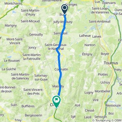 jour 16, de Buxy  a Cluny,34 km, camping