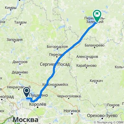 От Центральная улица 118, Жостово до улица Магистральная 26, Переславль-Залесский