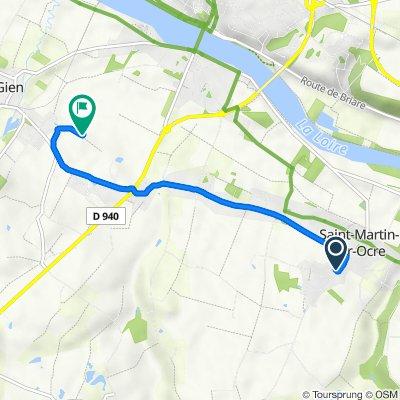 De Impasse des Mardrelles 35, Saint-Martin-sur-Ocre à Unnamed Road, Poilly-Lez-Gien