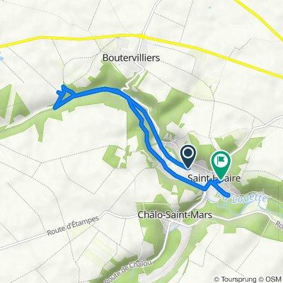 De 17 Chemin des Hautes Terres, Saint-Hilaire à 1 Route de la Pierre Levée, Saint-Hilaire