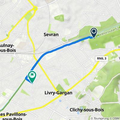Itinéraire vers 133 Avenue Gambetta, Livry-Gargan