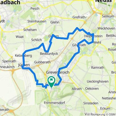 Die Bach- und Flusstour durch Jüchen und Grevenbroich