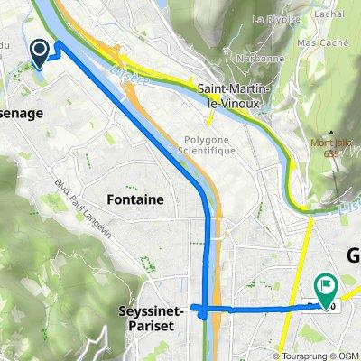 De Rue Pierre de Coubertin, Sassenage a Foch - Ferrié, Grenoble