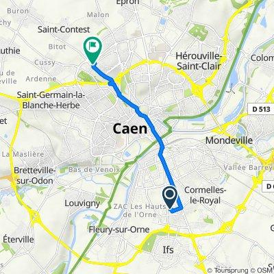 De 1–15 Rue Eugène Ionesco, Ifs à 8 Rue du Colonel Gilbert Renault Rémy, Caen