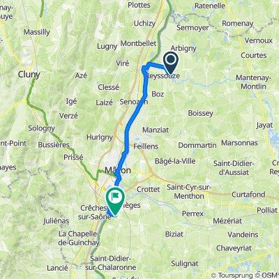 De Pont de Vaux à Cormoranche sur Saône