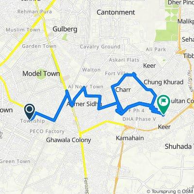 Street 10 511, Lahore to Plot J 283/4, Lahore