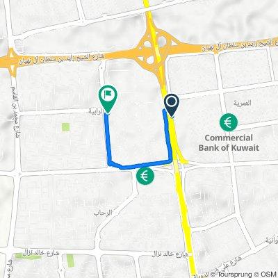 Route to Mshalah Bin Hadba Street, Al Kuwayt