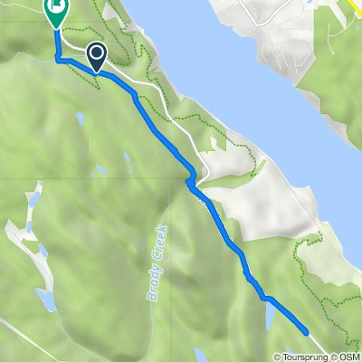 Route to 1715–1723 Westside Rd, Invermere