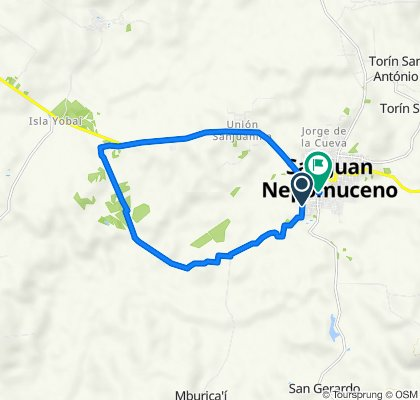 San Juan Nepomuceno to Estrella, San Juan Nepomuceno