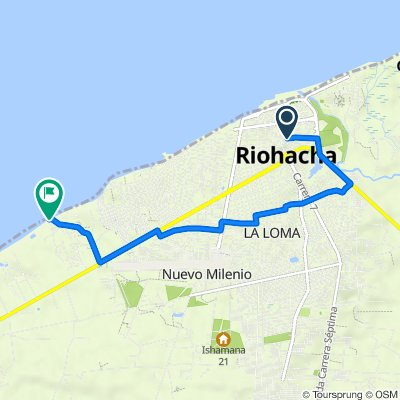 De Calle 12 5-63, Riohacha a Unnamed Road