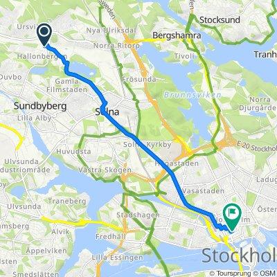 Gesällvägen 9, Sundbyberg to Brunkebergsgatan 8, Stockholm