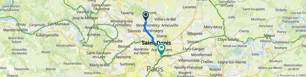 De 63B–63Bis Chemin des Laitières, Soisy-sous-Montmorency à 31 Rue de Cambrai, Paris