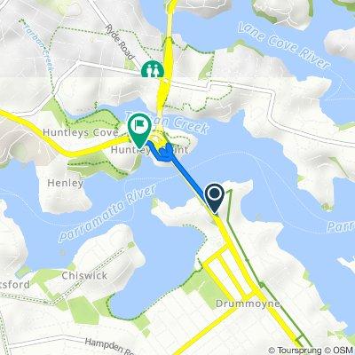 Victoria Road, Drummoyne to 8–22 Huntleys Point Road, Huntleys Point
