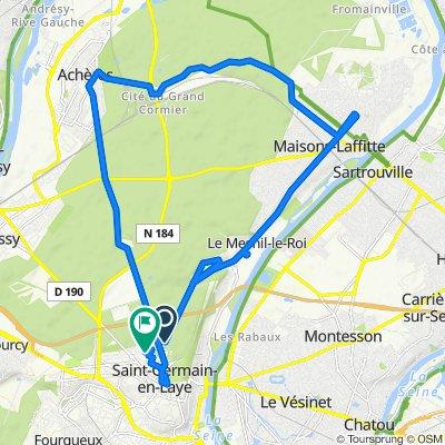De 4 Route de Maisons-Laffitte, Saint-Germain-en-Laye à 36 Rue de Tourville, Saint-Germain-en-Laye