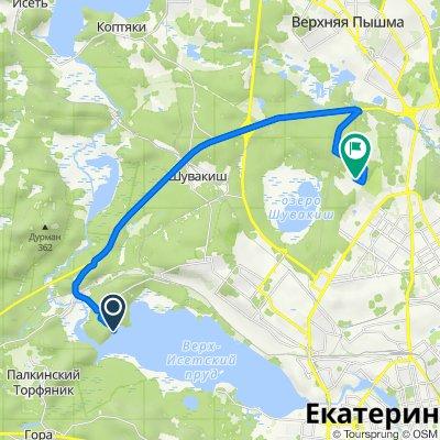 От Верх-Исетский район, Екатеринбург до Unnamed Road, Екатеринбург