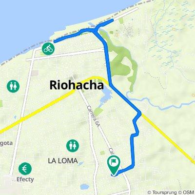 De Carrera 7a 14, Riohacha a Carrera 6b 3537, Riohacha
