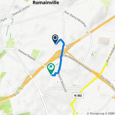 De 14 Rue d'Oradour-sur-Glane, Romainville à 93 Rue du Moulin à Vent, Montreuil