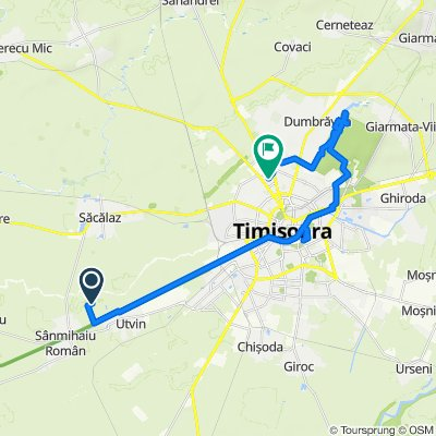 Route to Strada Cugir 14, Timișoara