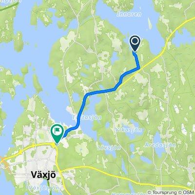 Kråkenäs Södregård 3, Växjö to Norremarksvägen 1, Växjö