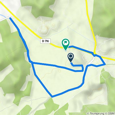 De Chemin de Pied Gautier 647, Orgon à Route de Plan d'Orgon 6037
