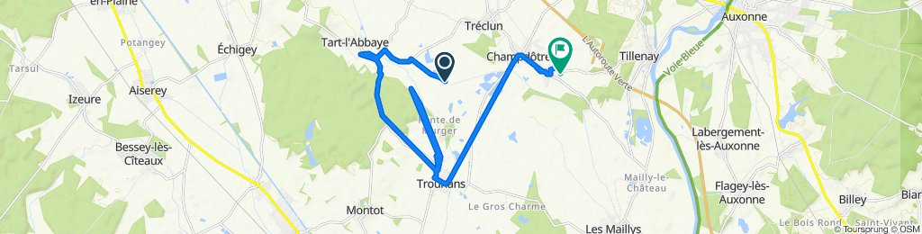 De Unnamed Road, Champdôtre à Rue du Bief 6, Pont