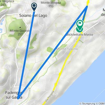 Da Via Aldo Moro 7, Soiano Del Lago a Via Pergola 31, Sotto Monte Tapino