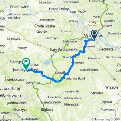 Wrocław - Jaworzyna Śląska rowerem