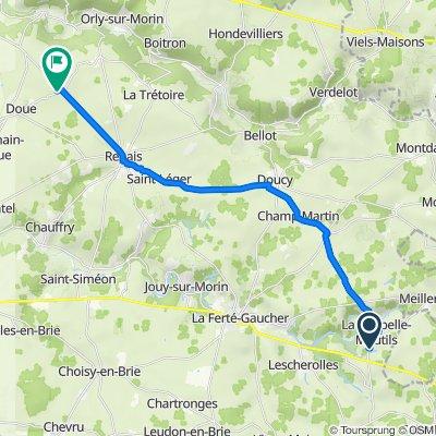 De 7A Marchais, La Chapelle-Moutils à 29 Saussoy, Doue