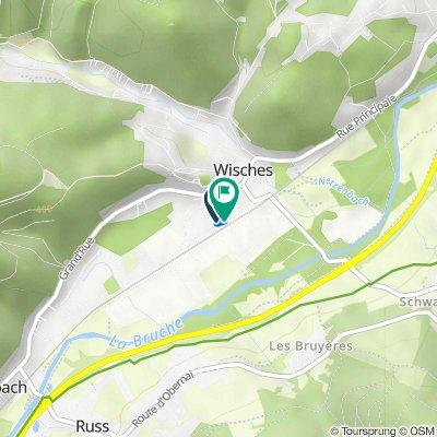 De 8 Place des Sports, Wisches à Rue de la Gare, Wisches