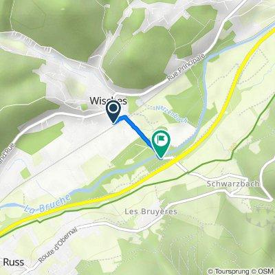 De Rue de la Gare, Wisches à D804, Russ
