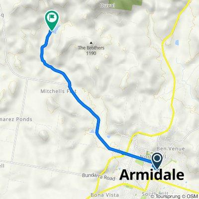 Ride to Dumaresq dam